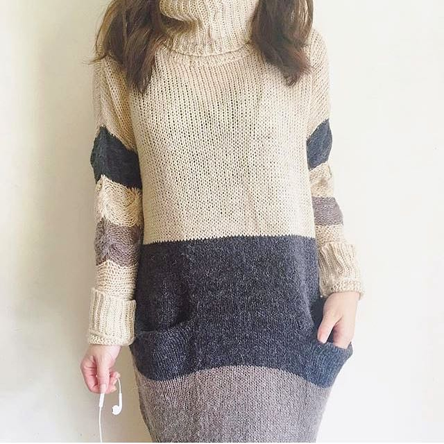 Knitted Dress With 2 Pockets