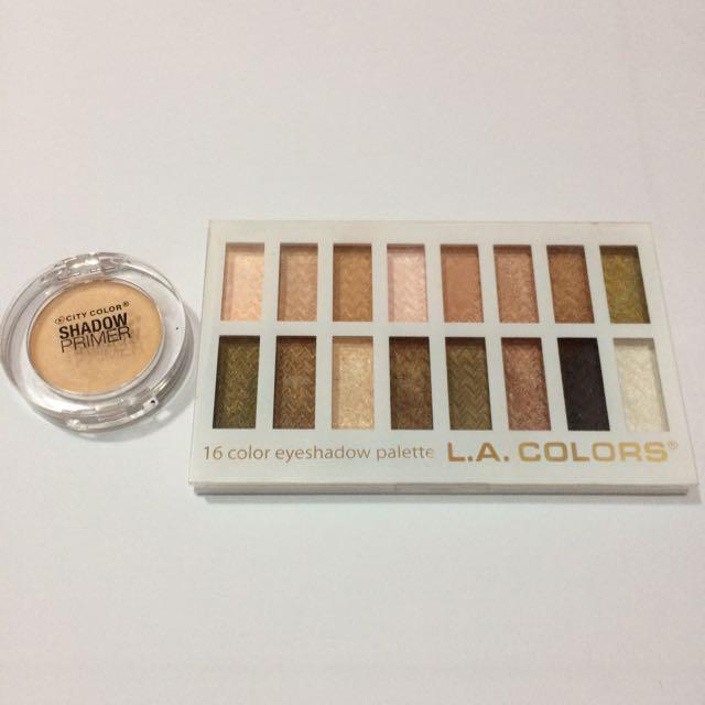 LA Colors Eyeshadow & City color Eyeshadow Primer