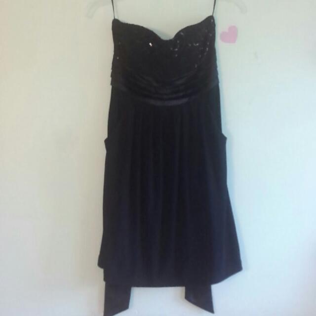 Mini Black Detailed Dress
