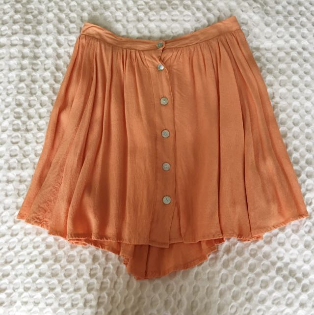 Mink Pink - Orange Chiffon Skirt