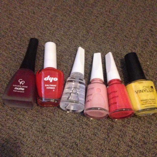 Nail Colors (6 Items)