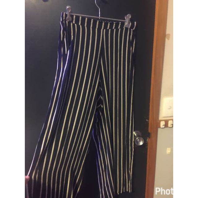 Navy Blue/white Strip Glasson's culottes