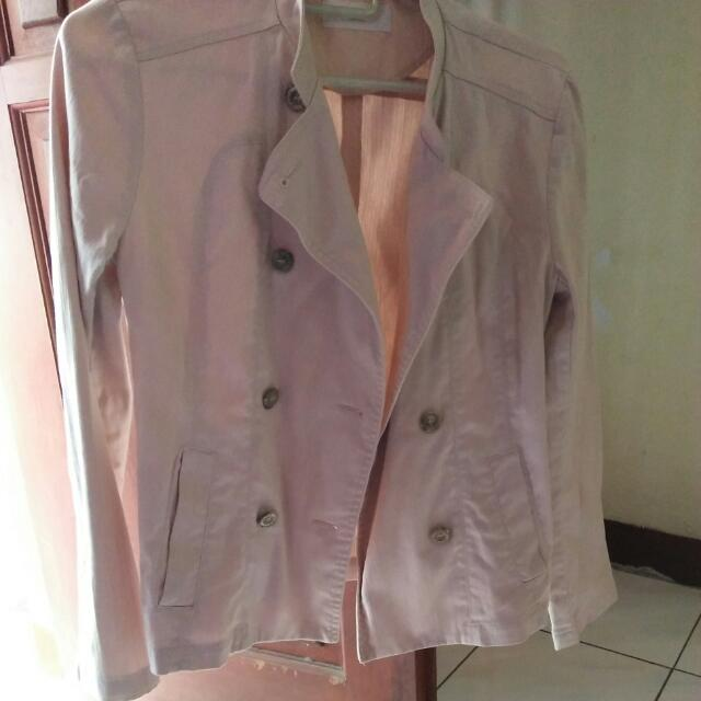 (Nego) Qua Casual Jeans Jacket Pink Pastel