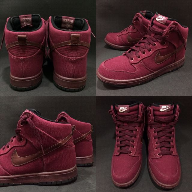Nike Dunk High Premium Zoom Air 酒紅