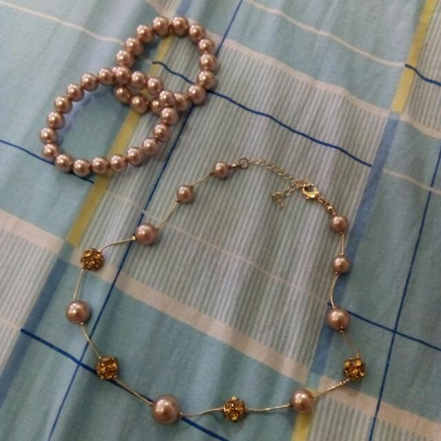 Pearl Bracelets & Necklace From US. 🇺🇸