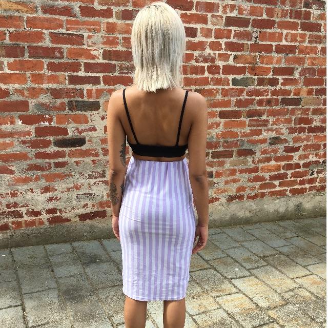 Pin Striped Pencil Skirt