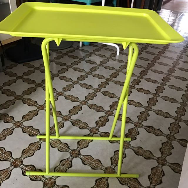 Plastic Side Table - Neon Green