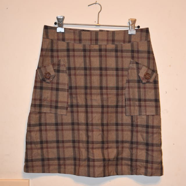 Revival Vintage Check Skirt