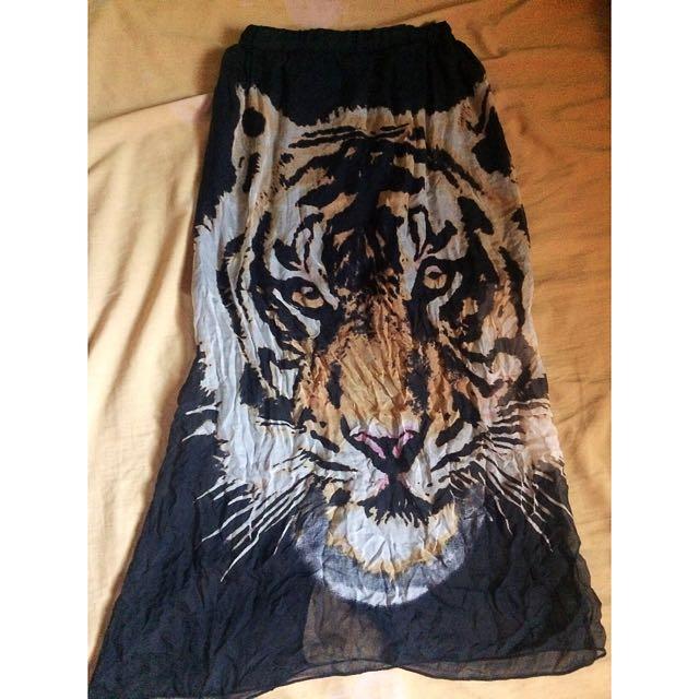 See Through Tiger Skirt