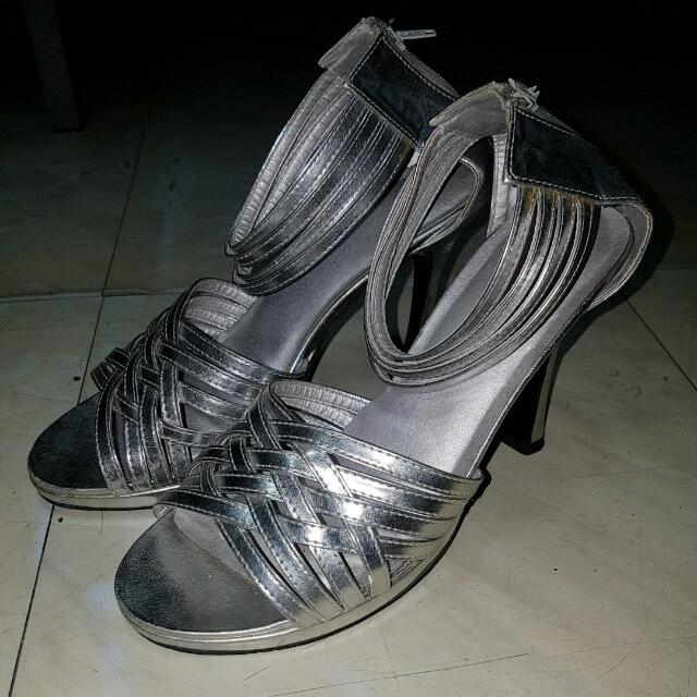 Silver Formal Sandals (Customized)