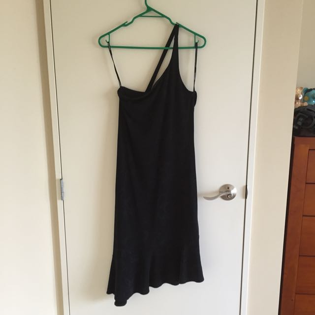 Sparkly black asymmetrical dress