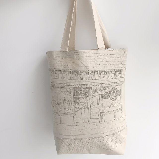 STARBUCKS 星巴克創始店 帆布防水提袋