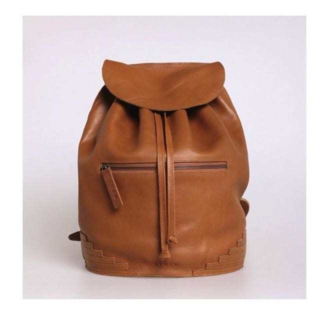 Straw The Label Full Leather Backpack