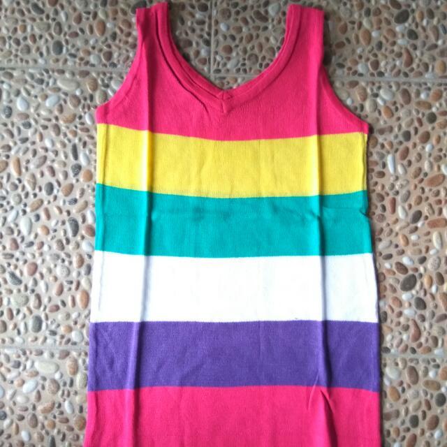 Tanktop Rajut Rainbow
