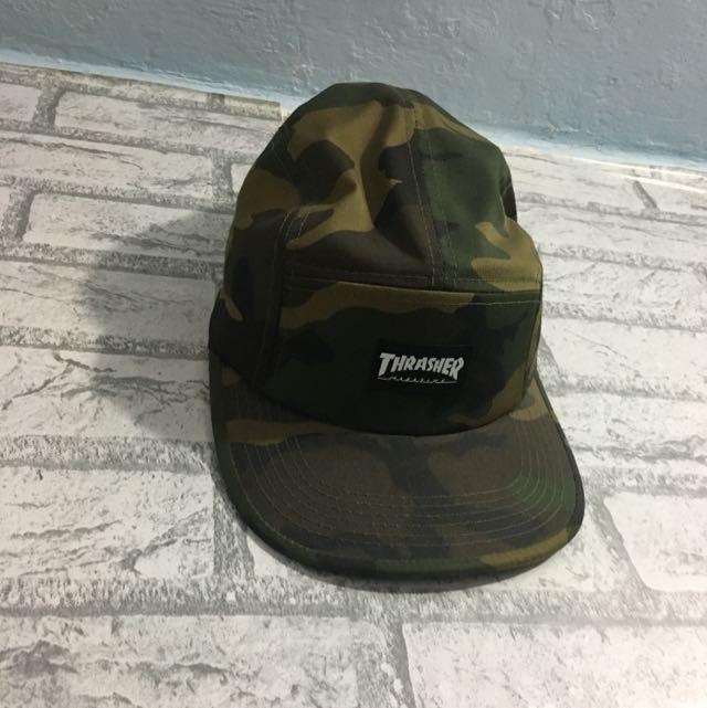 Thrasher 迷彩Camp Cap 7c2a500035d