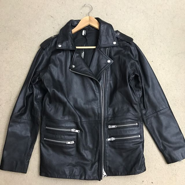 Topshop Genuine Leather Jacket