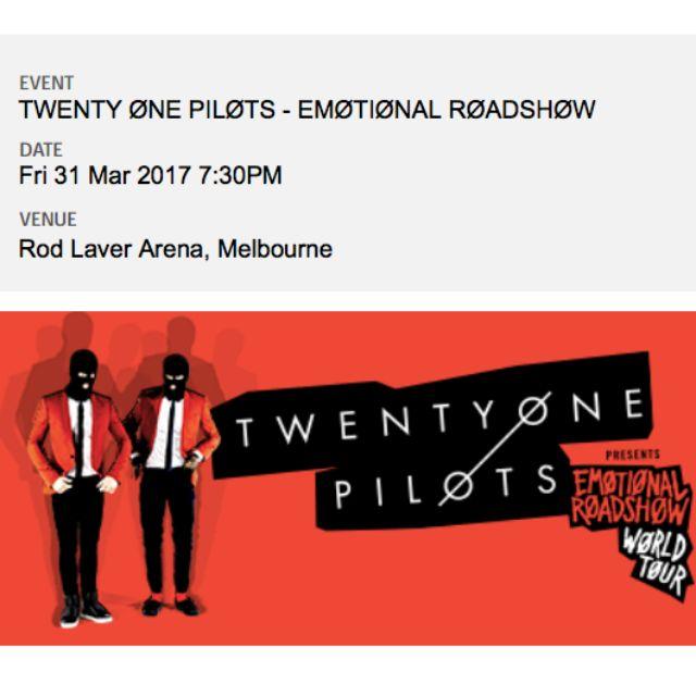 Twenty One Pilots Emotional Road Tour Melbourne Concert