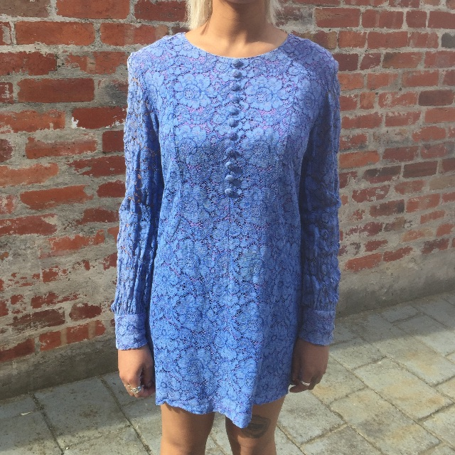 Vintage Blue Mini Dress