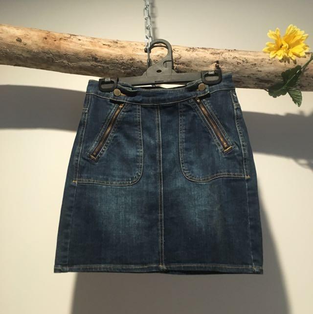 Vintage Denim Skirt Witchery 8