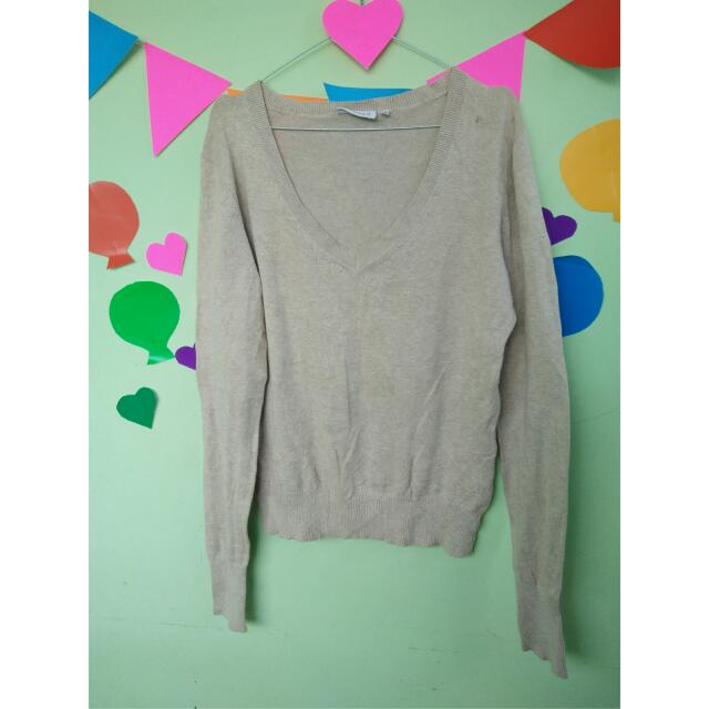 Vneck Knit Sweater