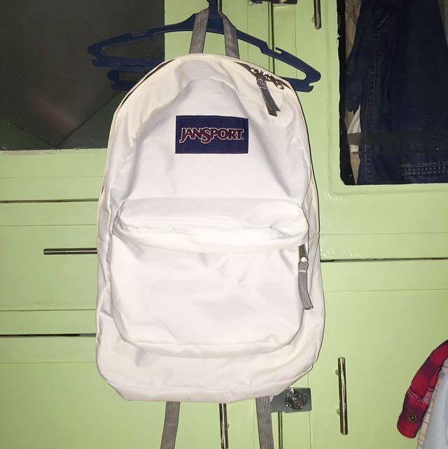 White Jansport Backpack