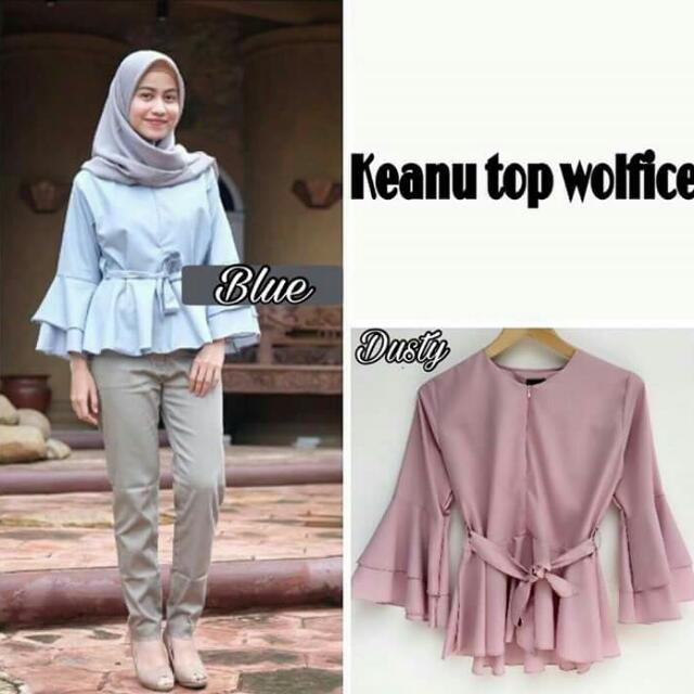 wolfis baby blue and warm pink