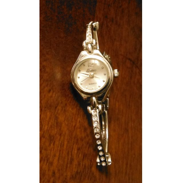 Women's Tradition Quarts Silver Coloured & Rhinestone Watch
