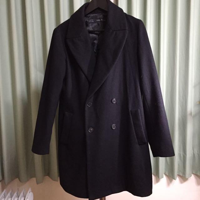 二手🙌🏻ZARA黑色羊毛西裝外套