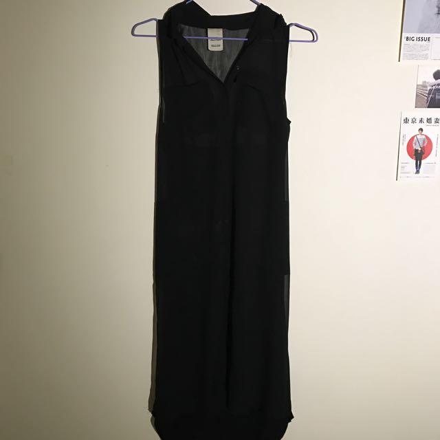 Zara黑色臉身裙