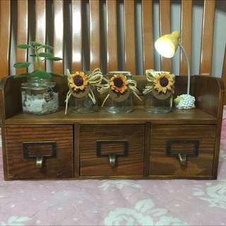 手工實木三盒櫃