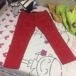 Red Pants F21