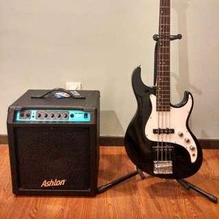 Greg Bennett Fairlane FN-1 Bass Guitar & Ashton BA30 Bass Amp