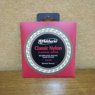 D'addario 클래식 나일론 기타 현 Classic Nylon Guitar strings  EJ27N Normal Tension
