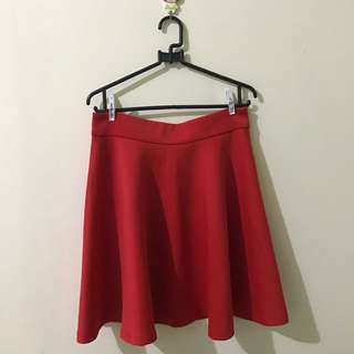 bright red skirt by nyla