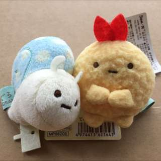 角落生物 蝸牛/ 炸蝦 玩偶娃娃 手掌能掌握的大小 日本帶回