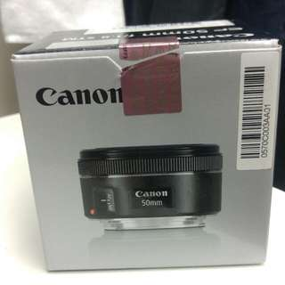 Canon 50mm STM opened Box 99% New