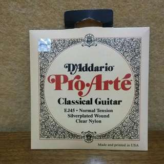D'addario 클래식 기타 현 나일론  Classic Guitar Strings Nylon  EJ45 Normal Tension