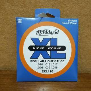 D'addario 어쿠스틱 기타 현 Acoustic Guitar Strings  EXL110 Nickel wound Regular light