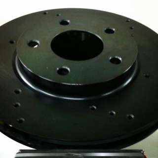 Black Coated and Drilled Rotors