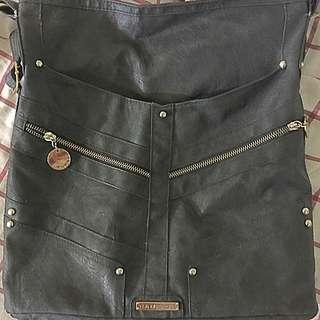 Black Leather Rampage Purse