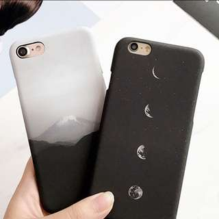 iPhone Moon And Mountain Case