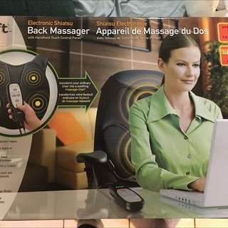 Back Massage Chair Cover
