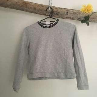 Rollas Crop Jumper Size S Grey