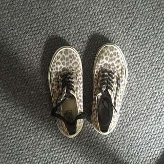 Vans Leopard Unisex Sneakers Ladies 9.5 Men's 8