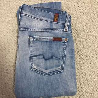 Seven For All Mankind Skinny Jeans Sz 25