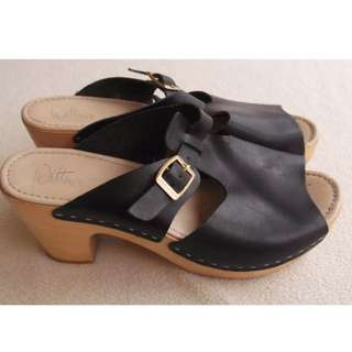 Wittner Leather Clogs Sz 40