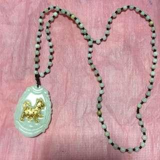 Gold Mounted Jade