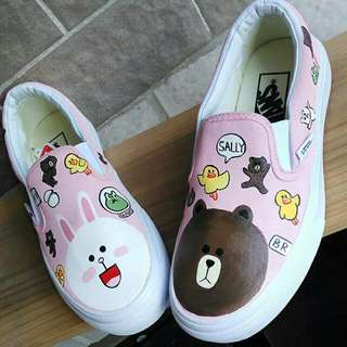 LINE Hand painted shoes