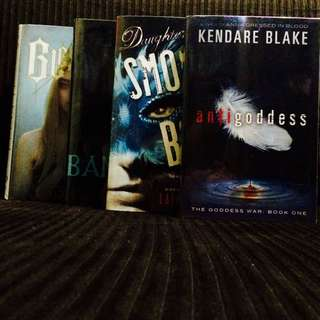 Book Bundle: Anti Goddess + Blessed + Daughter Of Smoke And Bone + Banished