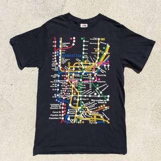 Vintage Manhattan/ New York Subway Tshirt / XXS